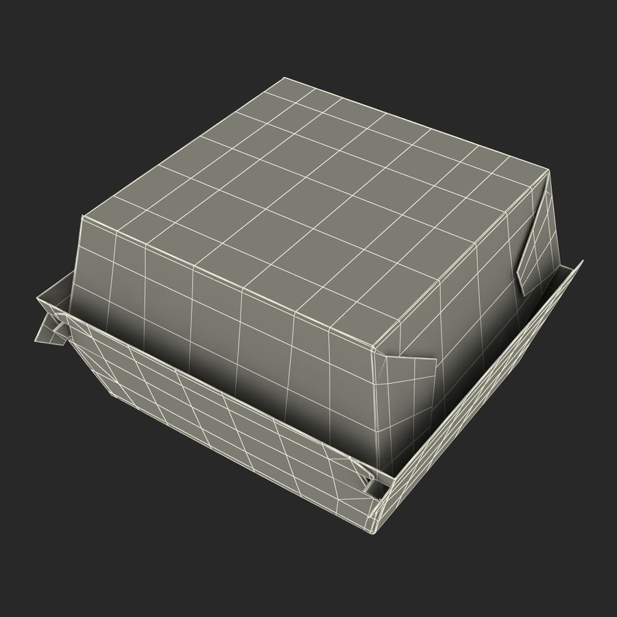 Burger Box通用3D模型 royalty-free 3d model - Preview no. 25