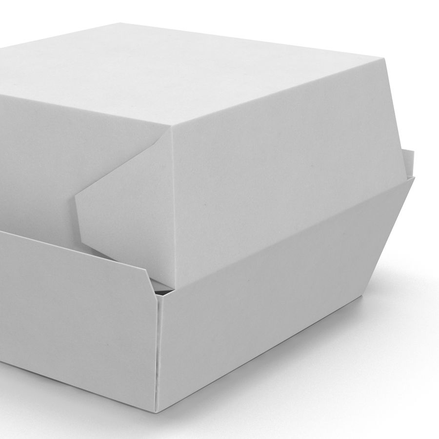 Burger Box Generic 3D model royalty-free 3d model - Preview no. 14
