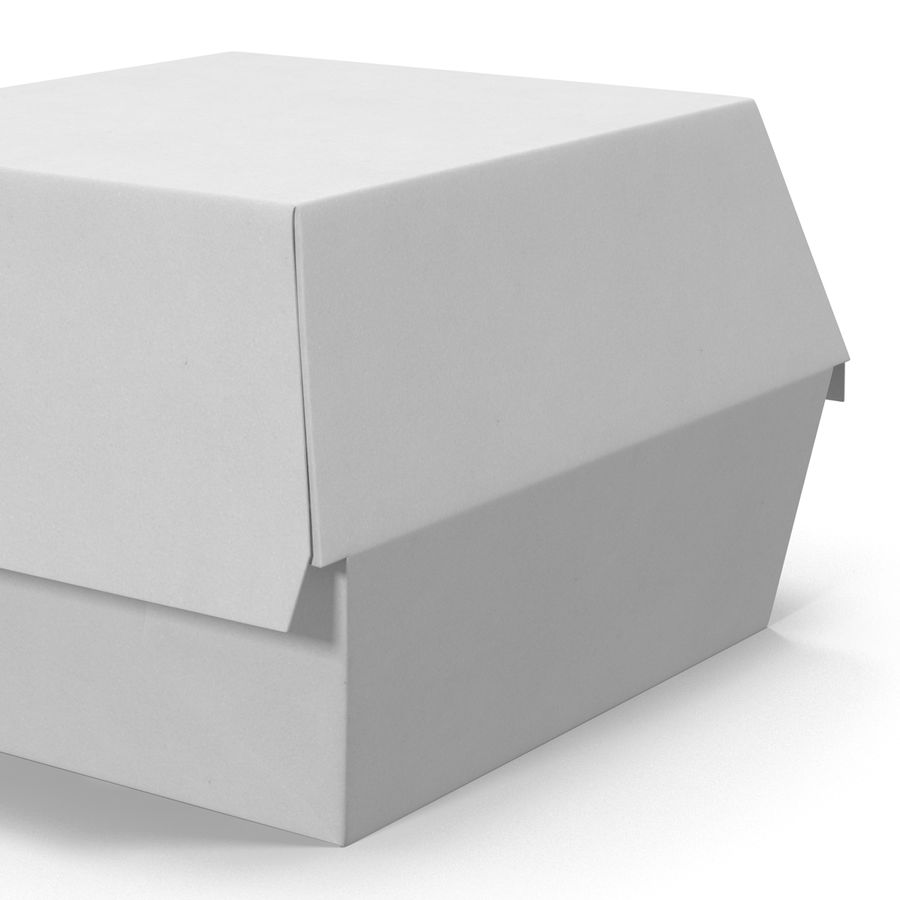 Burger Box Generic 3D model royalty-free 3d model - Preview no. 11