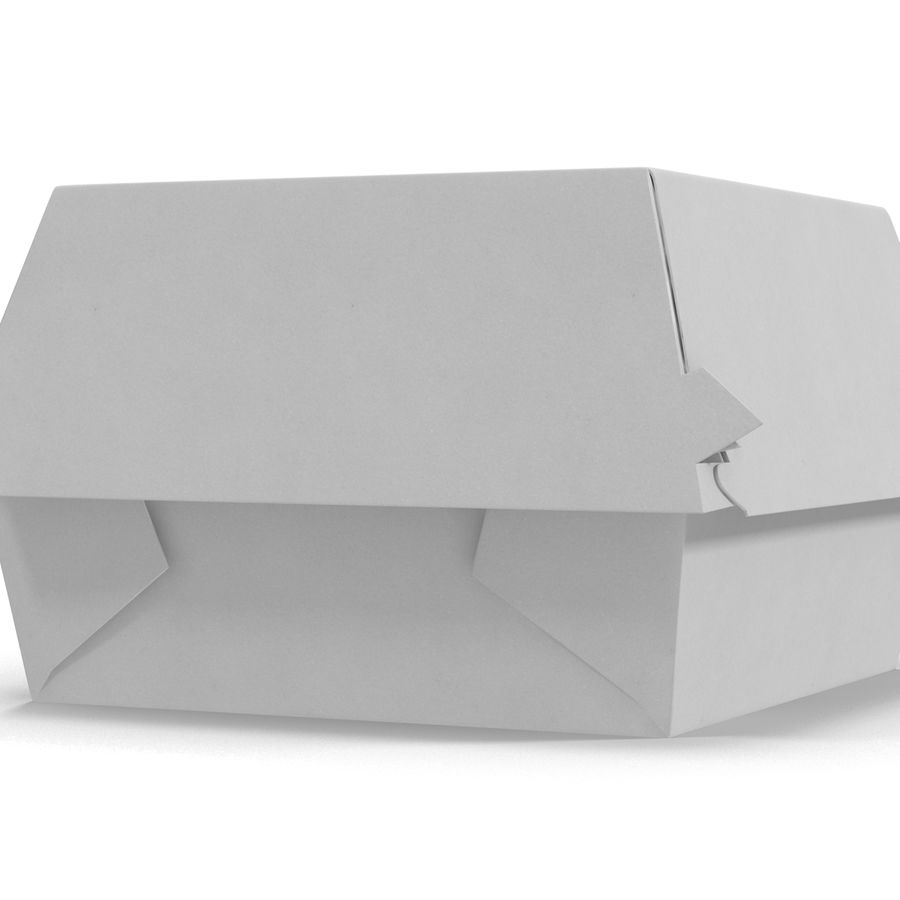 Burger Box Generic 3D model royalty-free 3d model - Preview no. 8