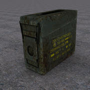 Militaire munitiekist 3d model