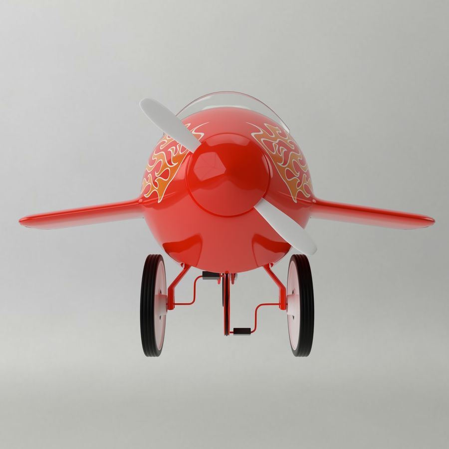 Avion en jouet royalty-free 3d model - Preview no. 11