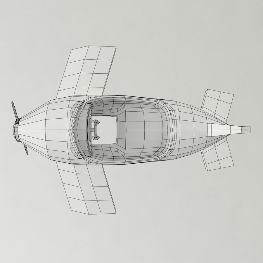 Avion en jouet royalty-free 3d model - Preview no. 15