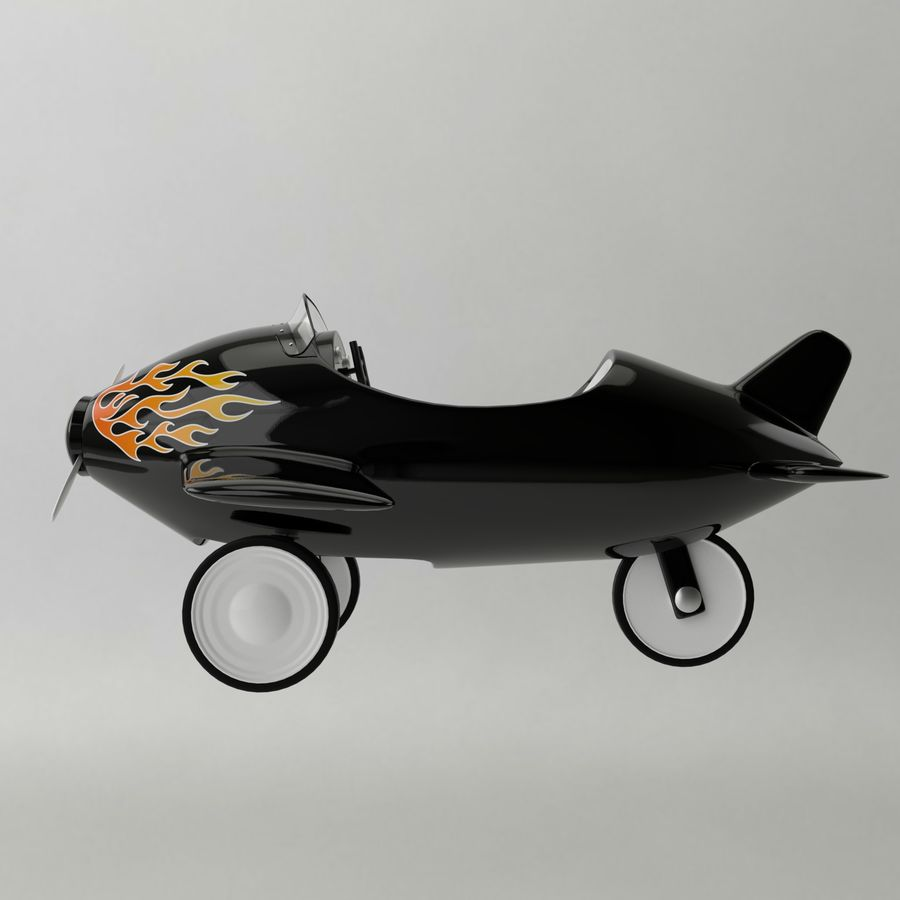 Avion en jouet royalty-free 3d model - Preview no. 3