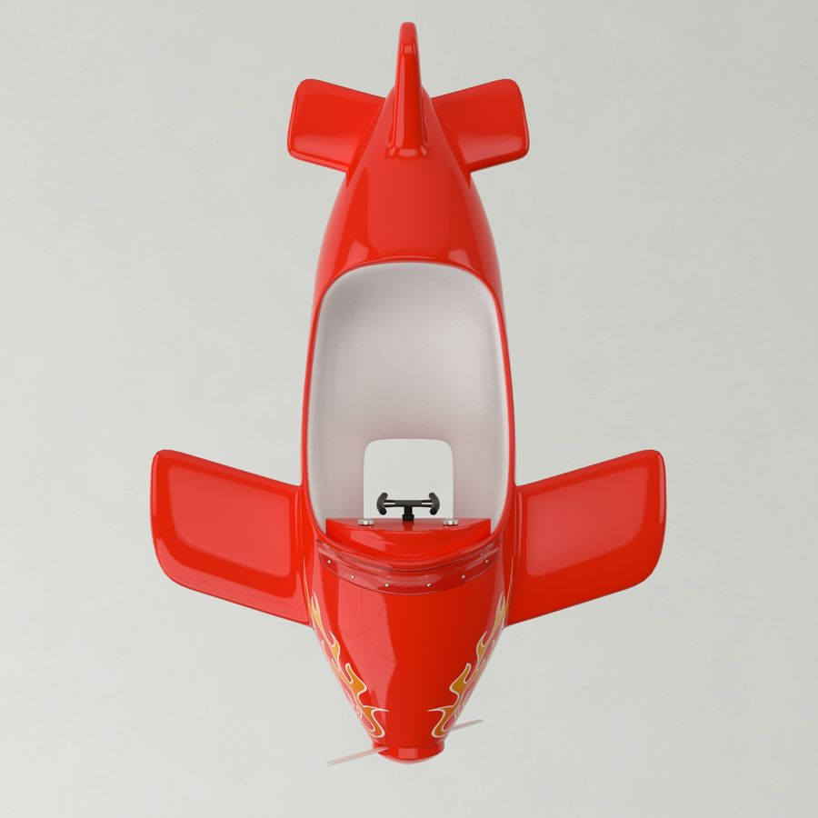 Avião de brinquedo royalty-free 3d model - Preview no. 7