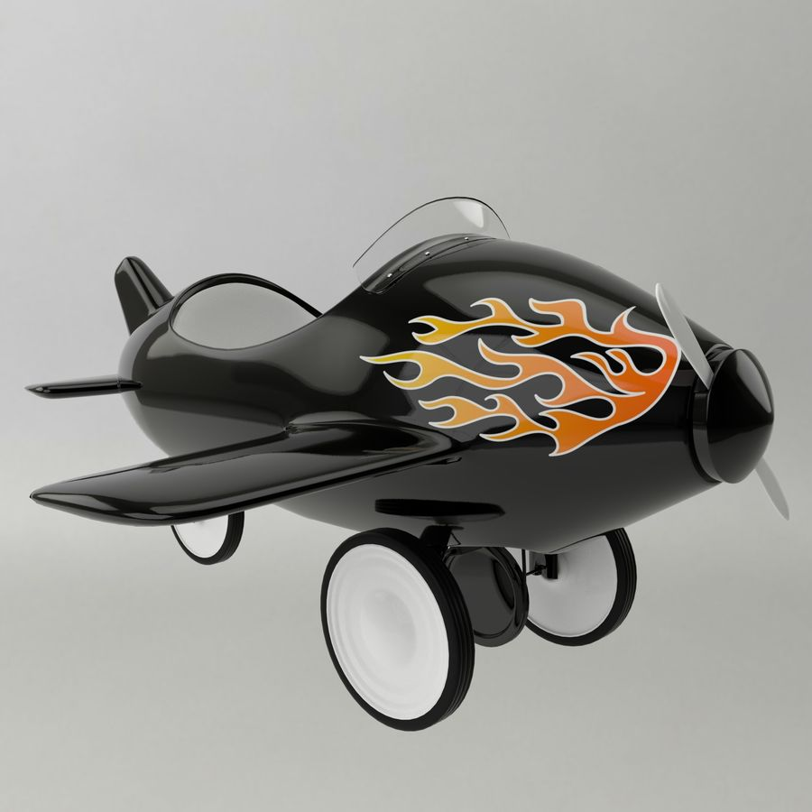 Avião de brinquedo royalty-free 3d model - Preview no. 1
