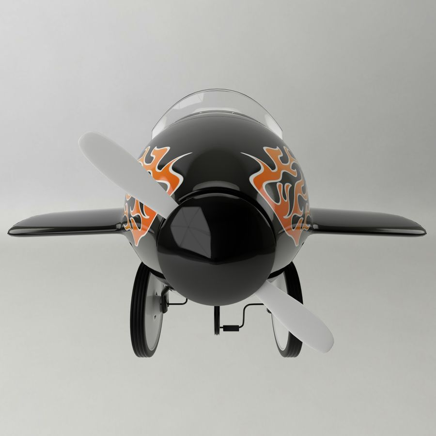 Avião de brinquedo royalty-free 3d model - Preview no. 2