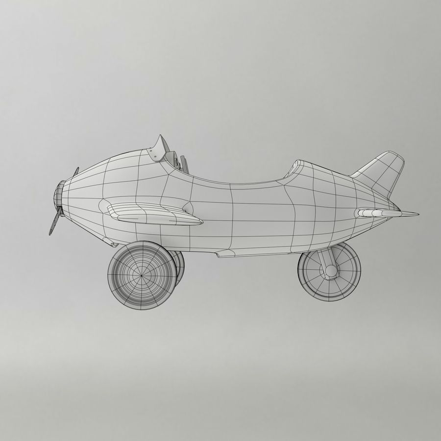 Avion en jouet royalty-free 3d model - Preview no. 12