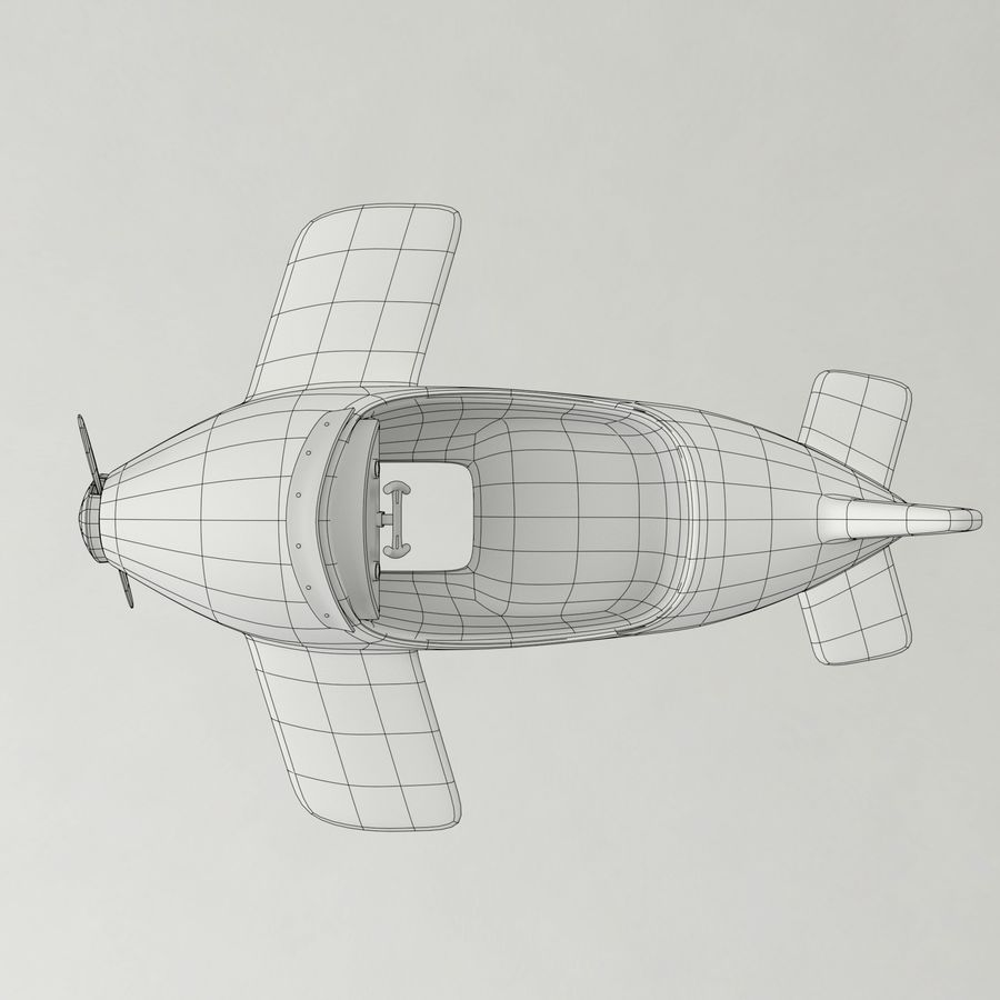 Avion en jouet royalty-free 3d model - Preview no. 13