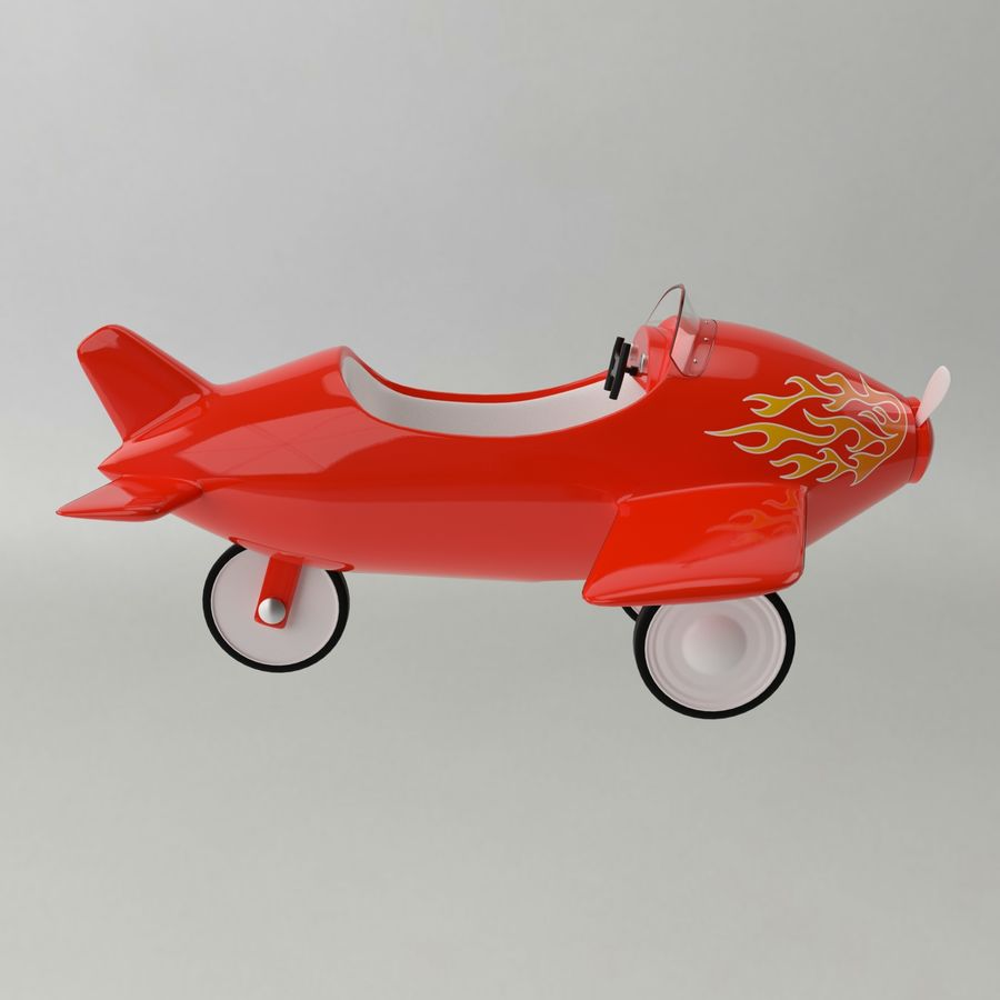 Avion en jouet royalty-free 3d model - Preview no. 10