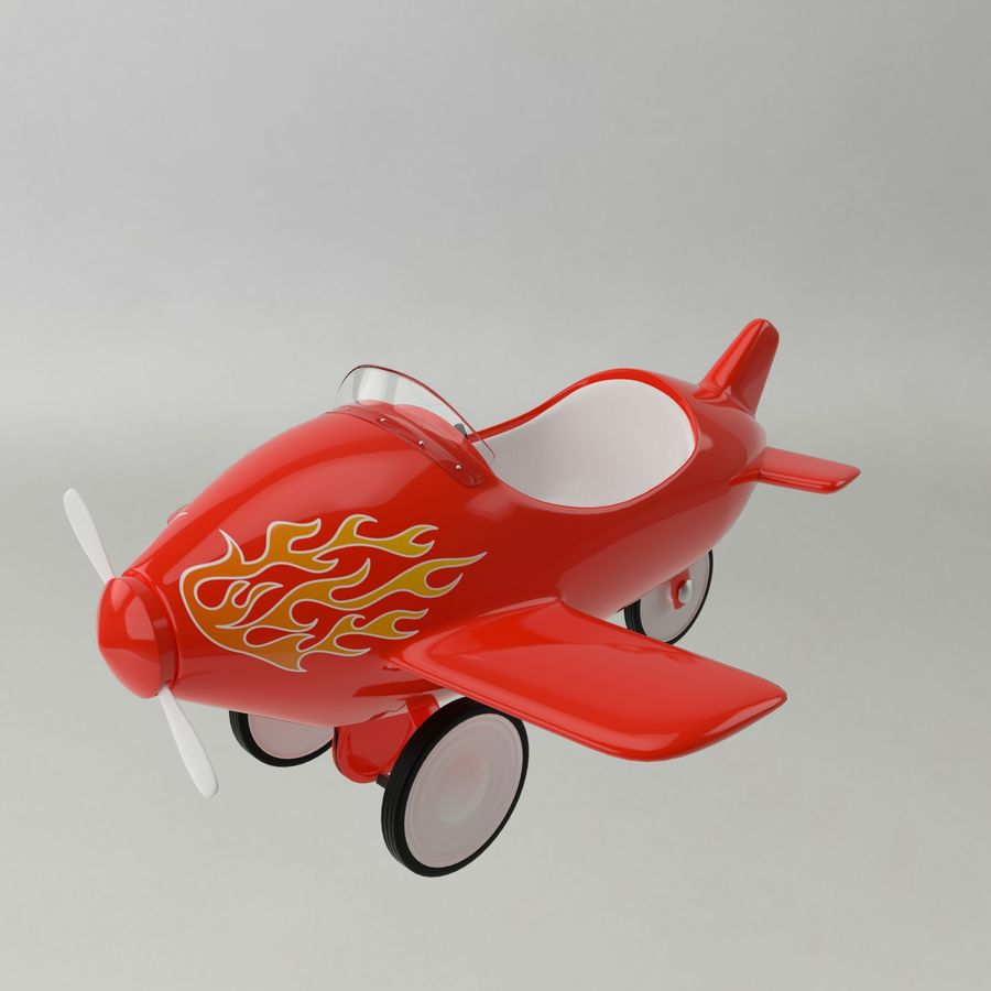 Avion en jouet royalty-free 3d model - Preview no. 5