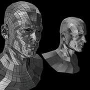 2 개 (2 쌍) Sci-Fi 로봇 헤드 3d model