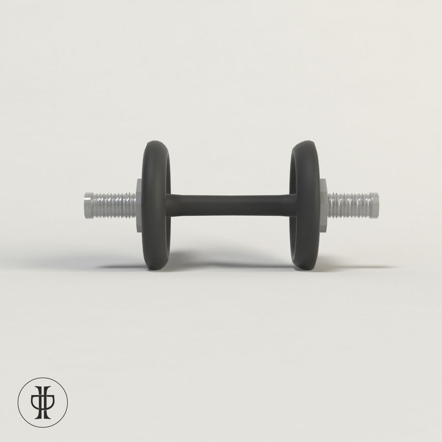 Dumbell royalty-free 3d model - Preview no. 3
