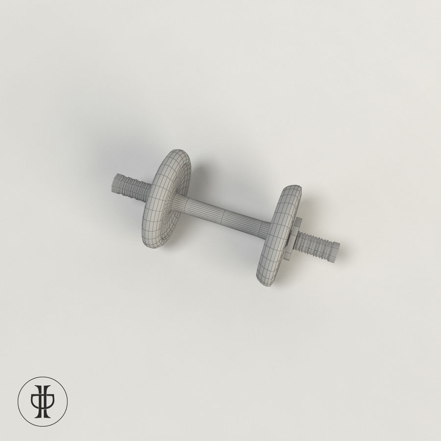 Dumbell royalty-free 3d model - Preview no. 5