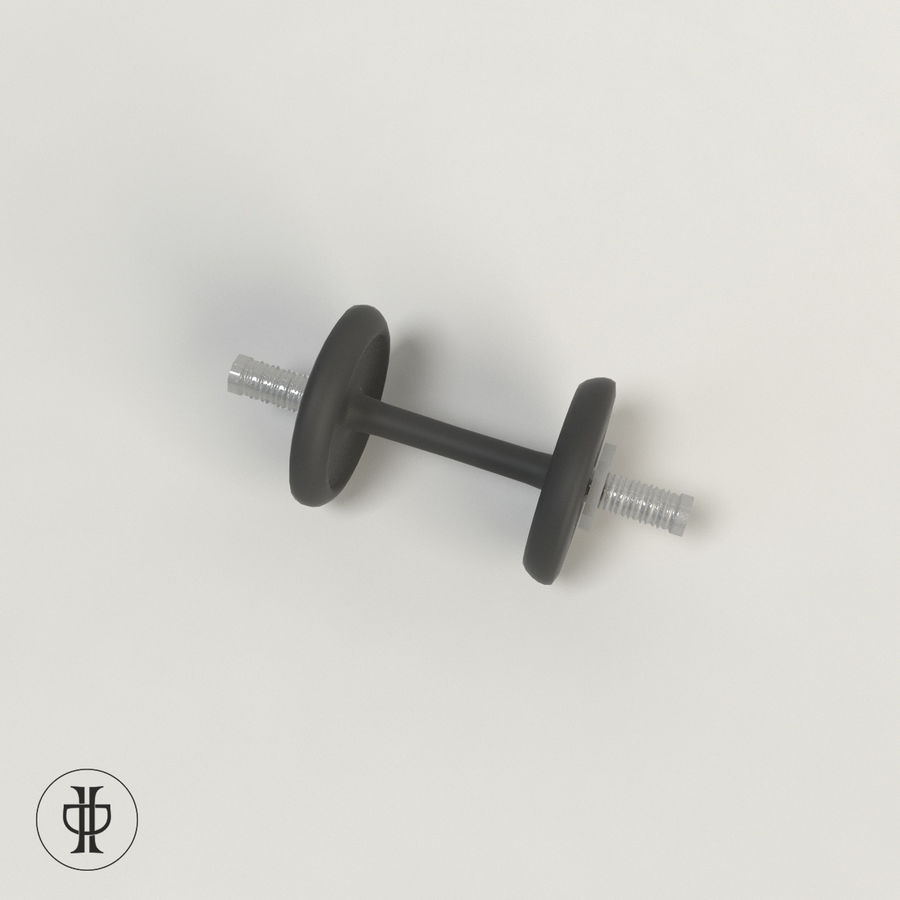 Dumbell royalty-free 3d model - Preview no. 2