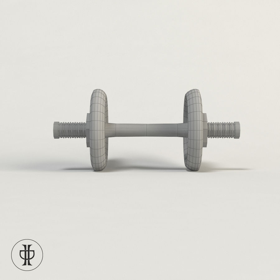 Dumbell royalty-free 3d model - Preview no. 6
