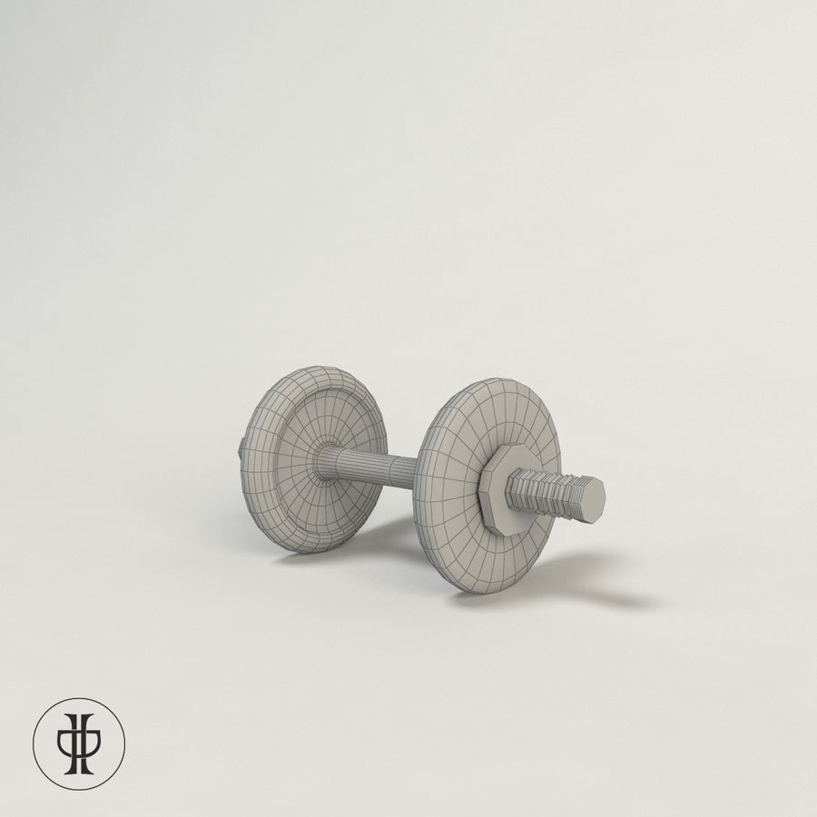 Dumbell royalty-free 3d model - Preview no. 4