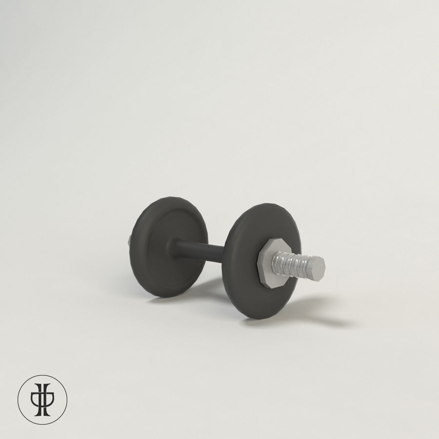 Dumbell royalty-free 3d model - Preview no. 1
