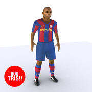 футболист низкий 3d model