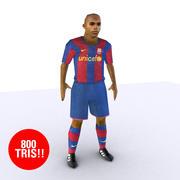 フットボール選手低 3d model