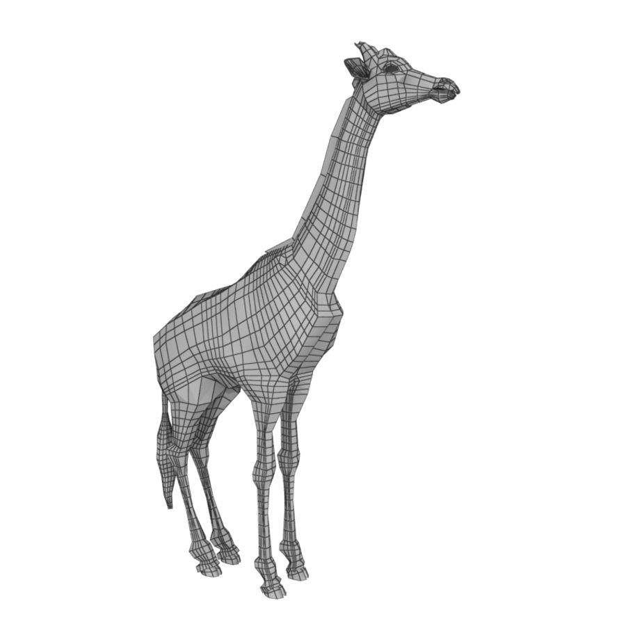 Giraffe royalty-free 3d model - Preview no. 10
