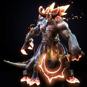 Game Res Fantasy Beast Character 3d model