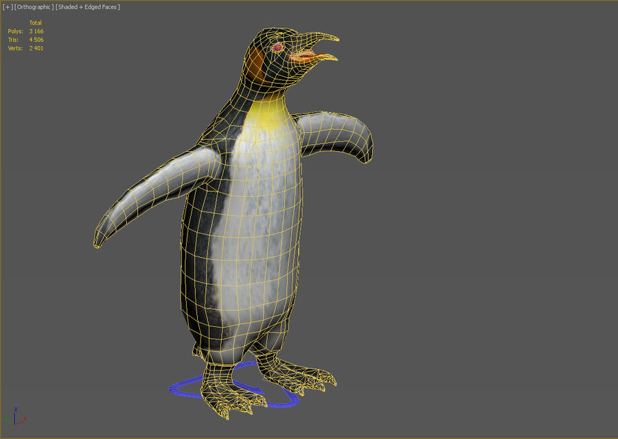 企鹅 royalty-free 3d model - Preview no. 4