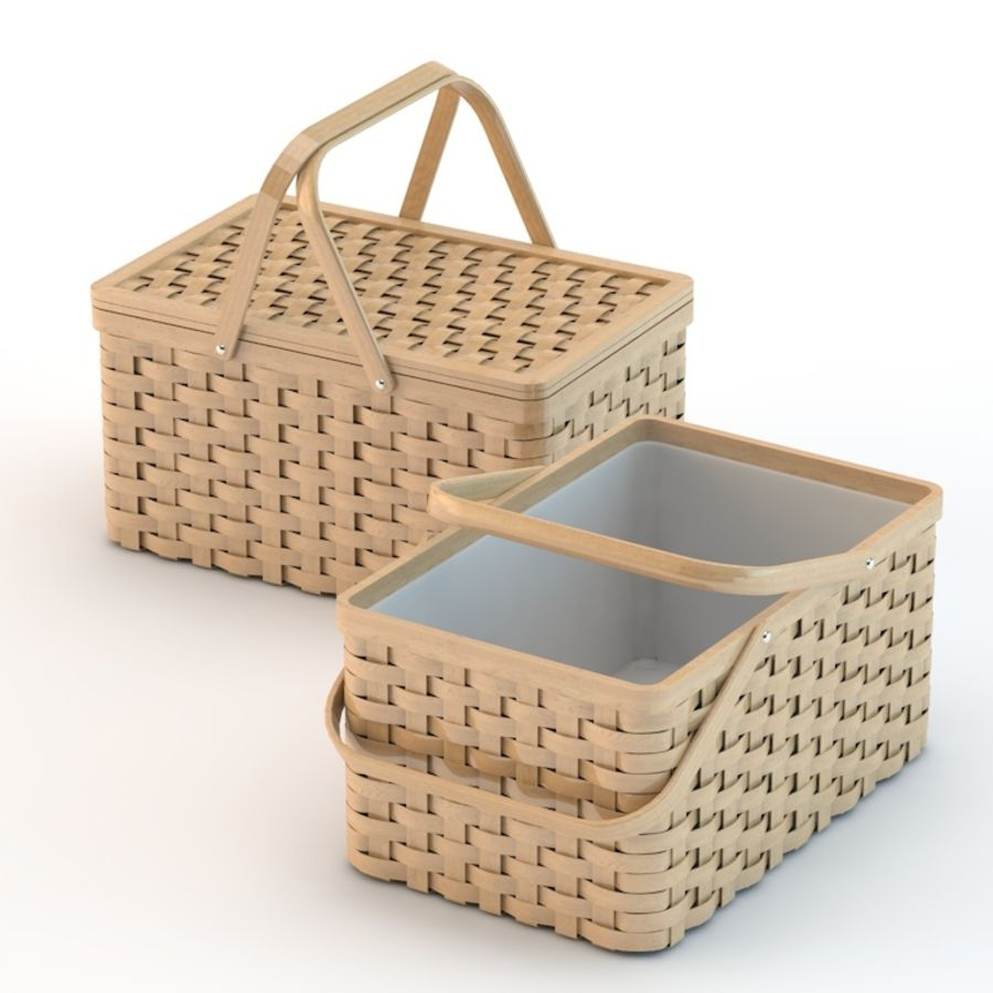 basket royalty-free 3d model - Preview no. 2