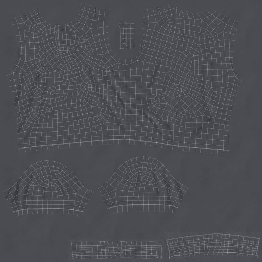 T-Shirt 3 royalty-free 3d model - Preview no. 20