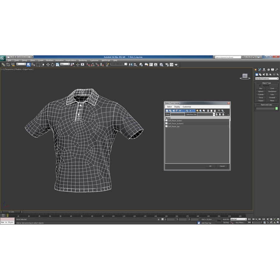 T-Shirt 3 royalty-free 3d model - Preview no. 22