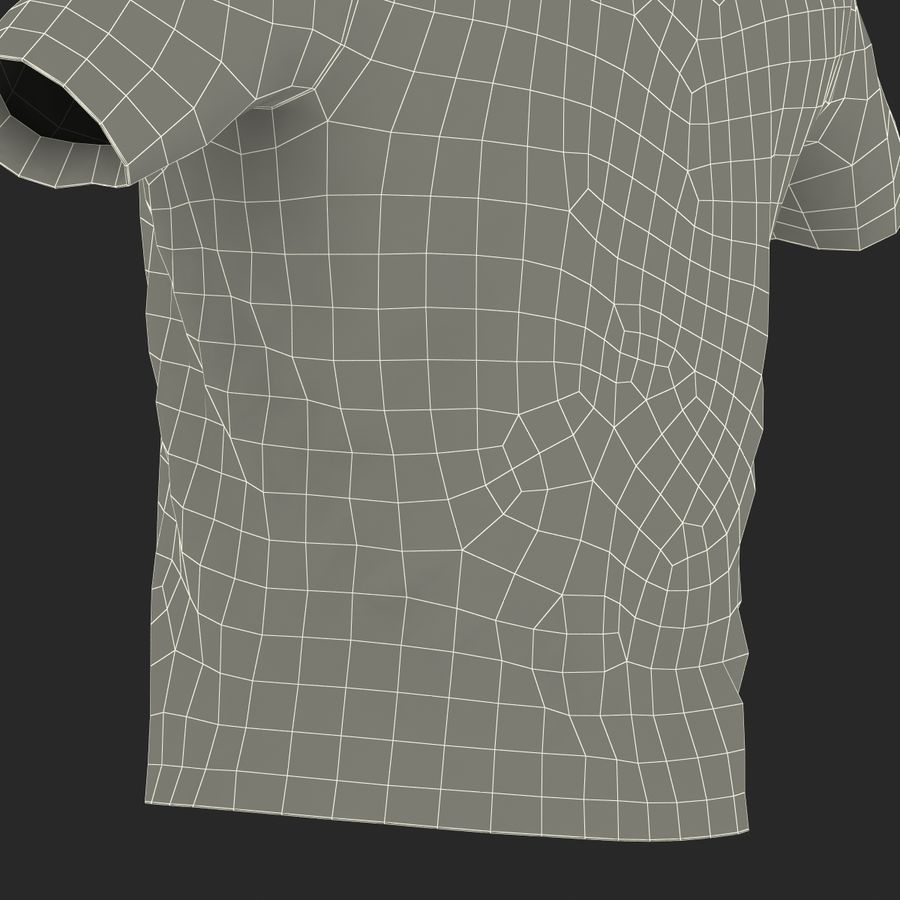 T-Shirt 3 royalty-free 3d model - Preview no. 35