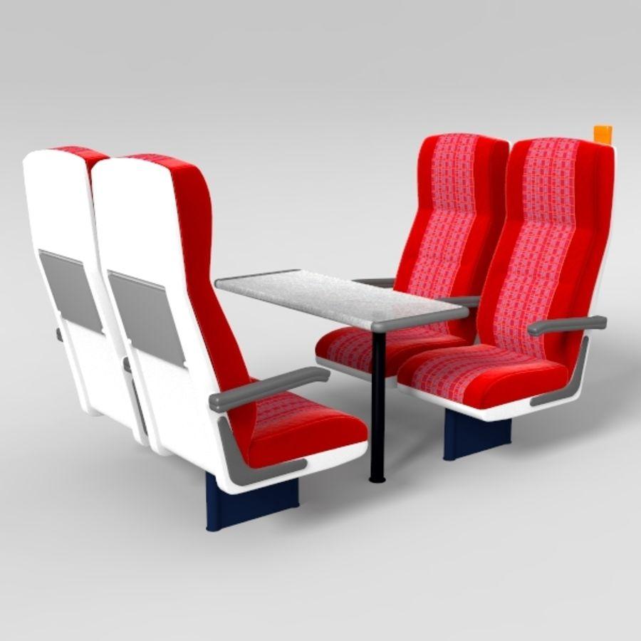 Train Seat 3D Model $49 -  lwo  obj  fbx - Free3D