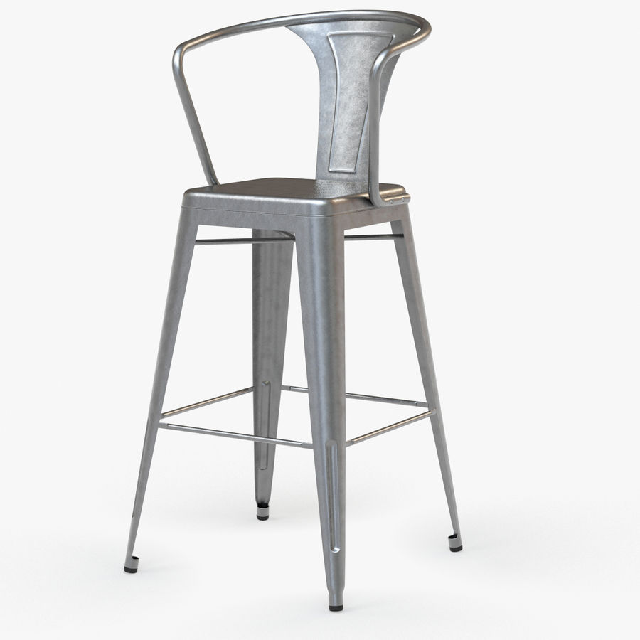 Cool Vintage Metal Bar Stool With Back 3D Model 39 Max Obj Caraccident5 Cool Chair Designs And Ideas Caraccident5Info