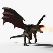 Black Firebreath Dragon 3d model