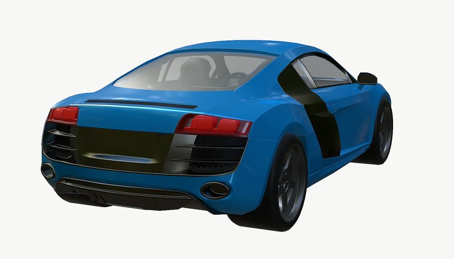 Audi r8 royalty-free 3d model - Preview no. 11