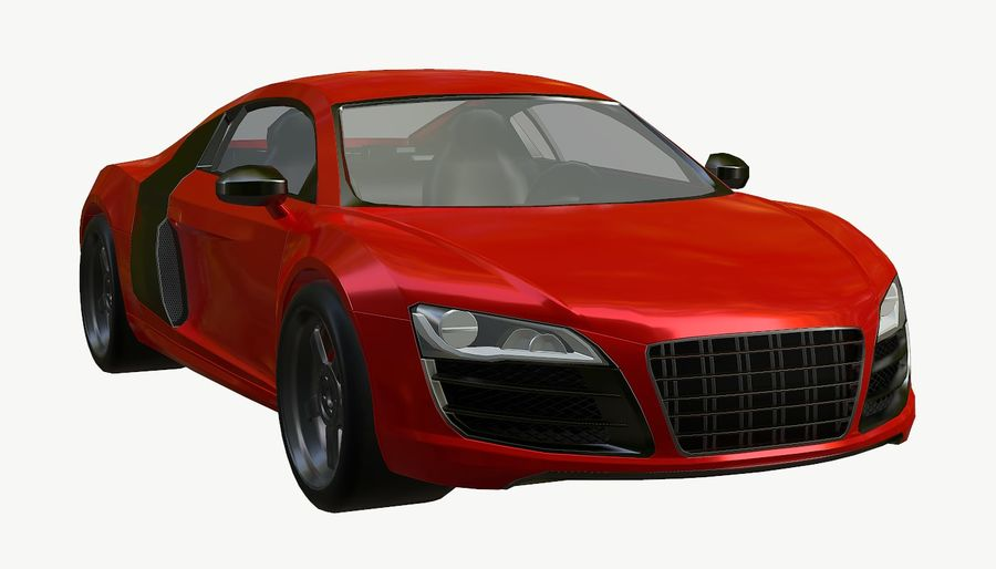 Audi r8 royalty-free 3d model - Preview no. 13