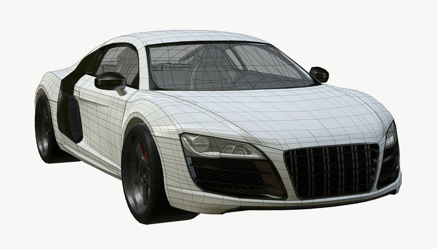 Audi r8 royalty-free 3d model - Preview no. 16