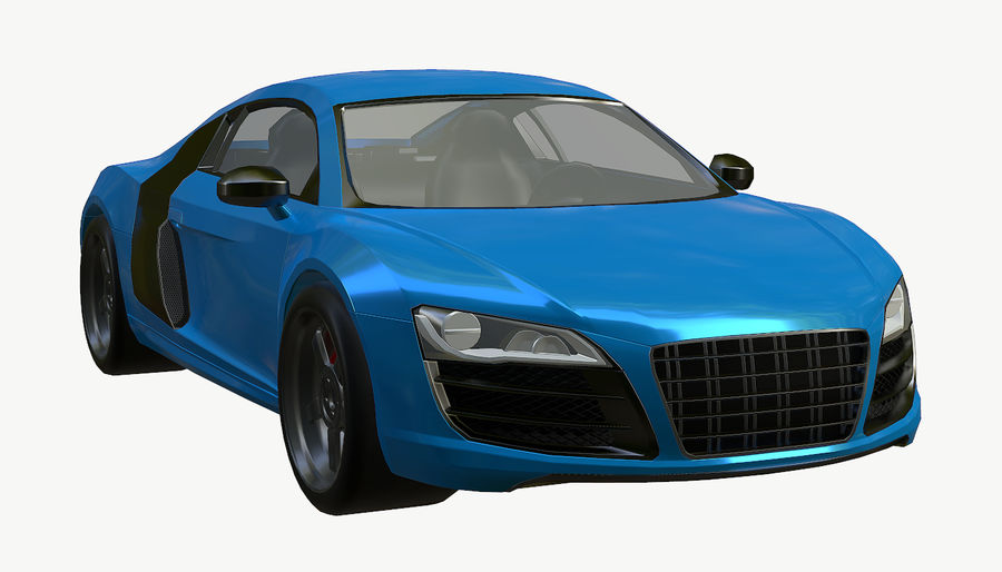 Audi R8 royalty-free 3d model - Preview no. 12