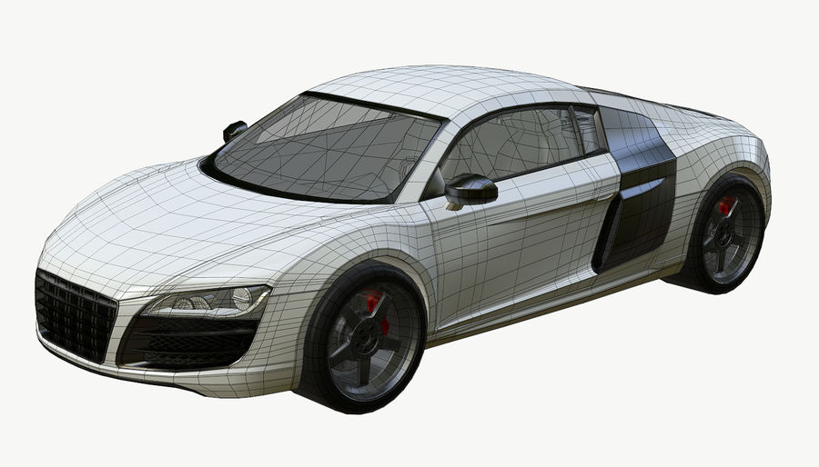 Audi R8 royalty-free 3d model - Preview no. 17