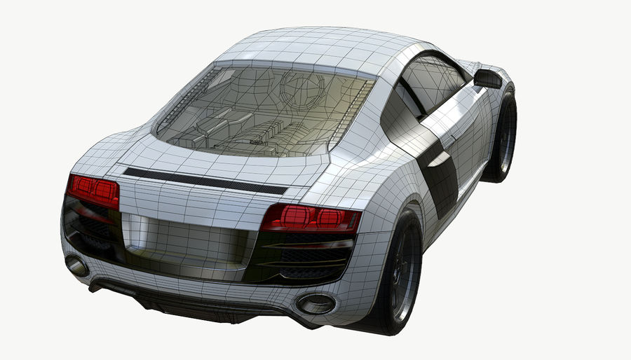 Audi R8 royalty-free 3d model - Preview no. 19