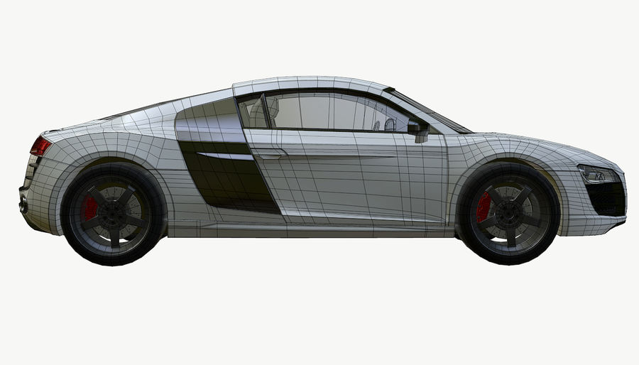 Audi R8 royalty-free 3d model - Preview no. 20