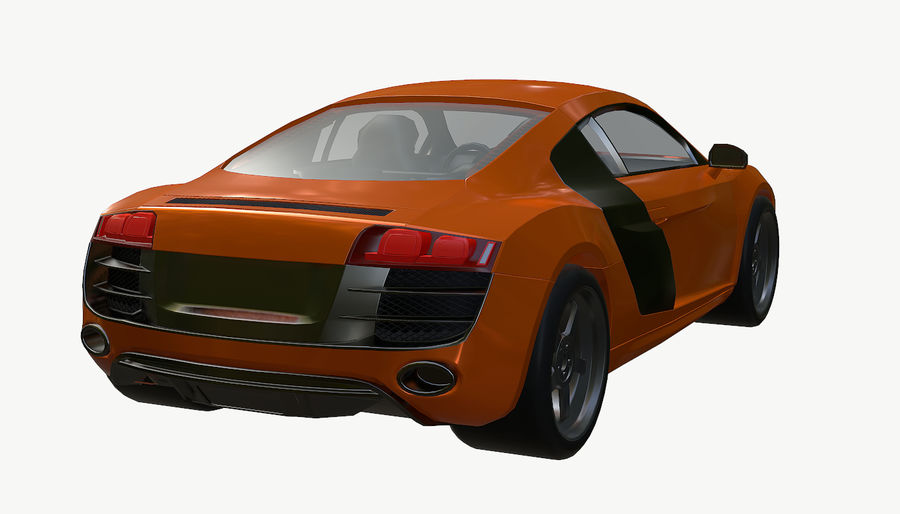 Audi R8 royalty-free 3d model - Preview no. 10