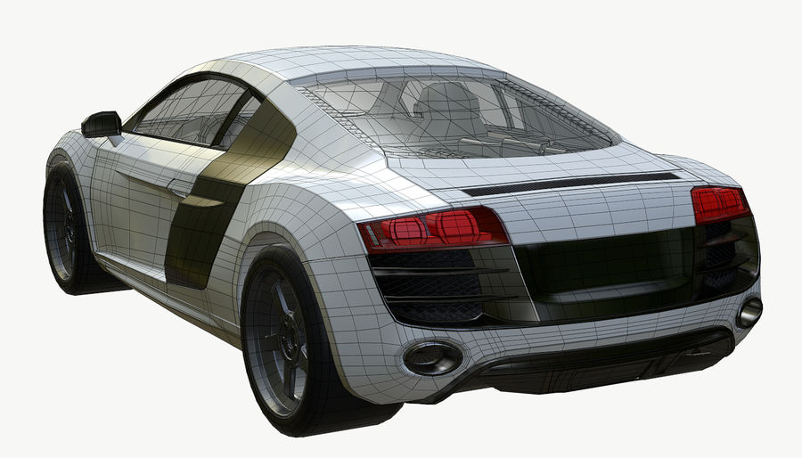 Audi R8 royalty-free 3d model - Preview no. 18