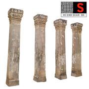 Ancient Column Cambodia (2) 3d model