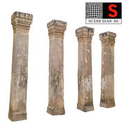 Antike Säule Kambodscha (2) 3d model