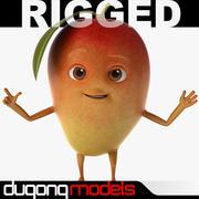 Мультфильм красный манго 3d model