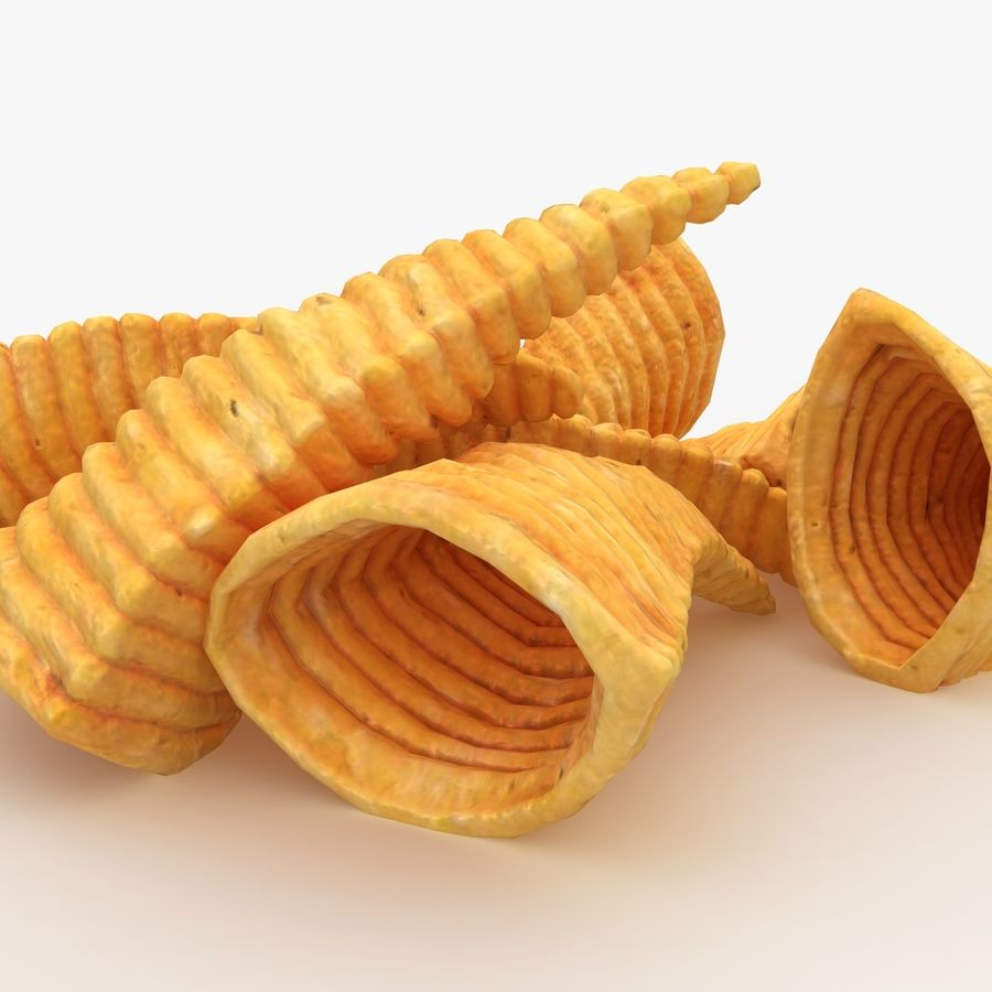 Corn Chip royalty-free 3d model - Preview no. 4
