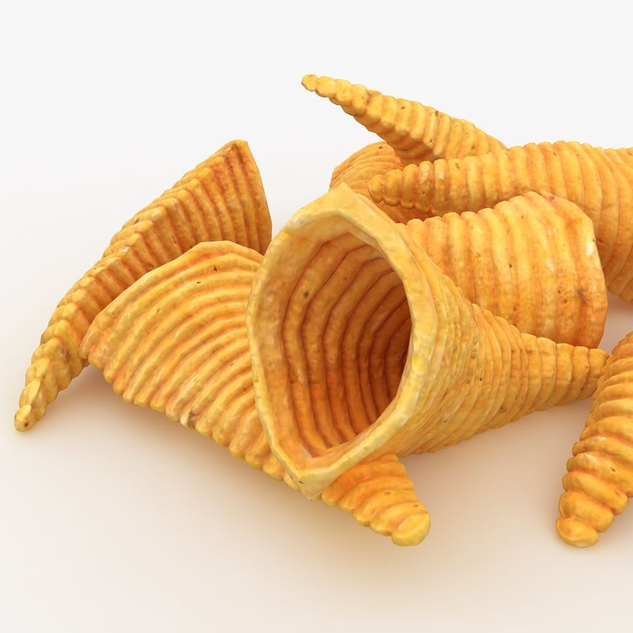 Corn Chip royalty-free 3d model - Preview no. 10