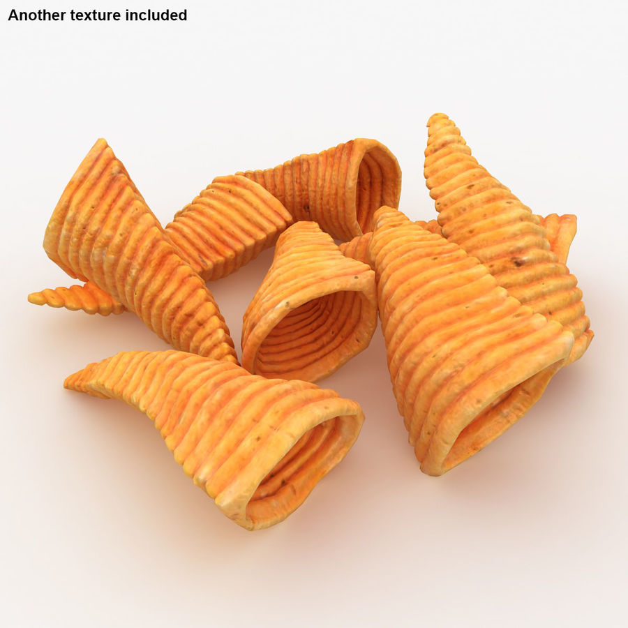 Corn Chip royalty-free 3d model - Preview no. 3