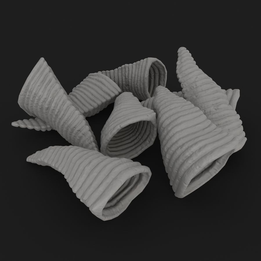 Corn Chip royalty-free 3d model - Preview no. 18
